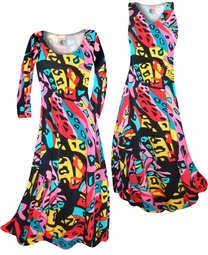 SOLD OUT! Pink & Black La Muse Slinky Print Plus Size & Supersize Standard or Cascading A-Line or Princess Cut Dresses & Shirts, Jackets, Pants, Palazzo's or Skirts Lg to 9x
