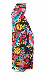 SOLD OUT! Pink & Black La Muse Slinky Print Special Order Plus Size & Supersize Pants, Capri's, Palazzos or Skirts! Lg to 9x
