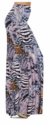 CLEARANCE! Lilac & Brown Multi Animal Skin Slinky Print Special Order Plus Size & Supersize Pants, Capri's, Palazzos or Skirts! 1x