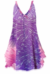 SOLD OUT! Customize Lilac Pink & Purple Feathers Print Semi Sheer Poly Satin A-Line Overshirt Supersize & Plus Size Tops 0x 1x 2x 3x 4x 5x 6x 7x 8x