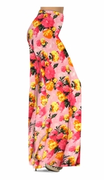 SOLD OUT! Customize Lovely Pink Spring Flowers Slinky Print Special Order Plus Size & Supersize Pants, Capri's, Palazzos or Skirts! Lg to 9x