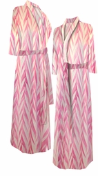 SOLD OUT! Opalescent Pink Zebra Satin Print Plus Size & Supersize Robes 6x