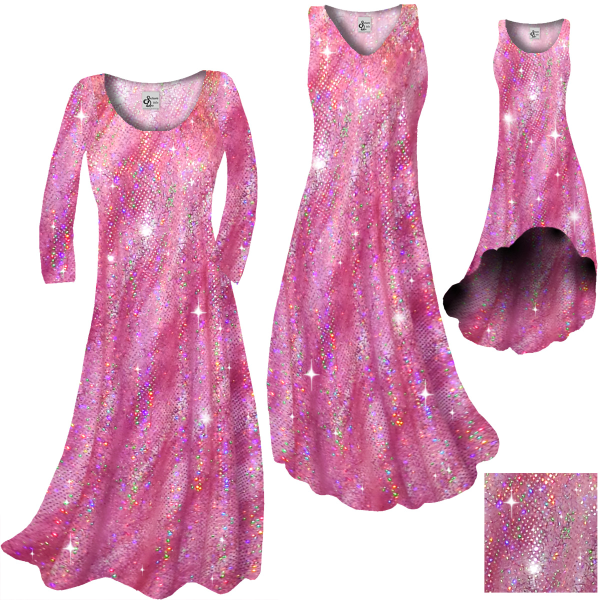 SOLD OUT! CLEARANCE! Pretty Hot Pink Sparkly Sequins Print Plus ...