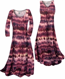 a4c44df838ce5 Customize Purple   Cream Tye Dye Slinky Print Plus Size