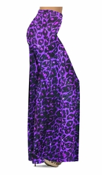 SOLD OUT! SALE! Purple Leopard Glittery Slinky Print Plus Size Supersize Palazzo Pants 6x