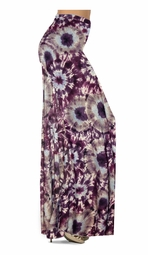 SOLD OUT! NEW! Customize Dark Purple Wine and Sand Tie Dye Slinky Print Special Order Plus Size & Supersize Pants, Capri's, Palazzos or Skirts! Lg to 9x