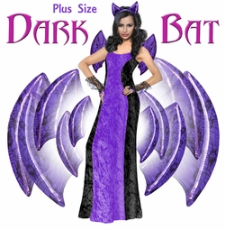 NEW! Dark Bat Plus Size Supersize Costume Lg XL 1x 2x 3x 4x 5x 6x 7x 8x 9x