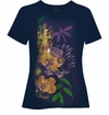 CLEARANCE! Dark Navy Dragonflies Glittery Plus Size T-Shirt 4x