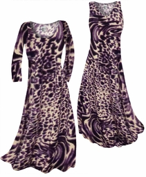 SOLD OUT! Customizable Dark Purple Animal Skin Print Slinky Plus Size & Supersize Standard or Cascading A-Line or Princess Cut Dresses & Shirts, Jackets, Pants, Palazzo's or Skirts Lg to 9x
