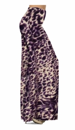 SOLD OUT! Dark Purple Animal Skin Print Slinky Special Order Customizable Plus Size & Supersize Pants, Capri's, Palazzos or Skirts! Lg to 9x