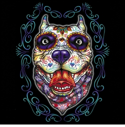 SALE! Day Of The Dead Pit Bull Head Plus Size & Supersize T-Shirts S M L XL 2x 3x 4x 5x 6x 7x 8x 9x (All Colors)