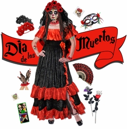 day of the dead plus size day of the - Cheap Plus Size Halloween Costumes 4x