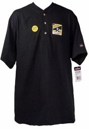 SOLD OUT! Just Reduced! Dickies Black Henley Style Heavy Weight Button Long Sleeve Plus Size Shirt 3XL