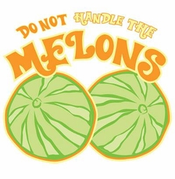SALE! Do Not Handle The Melons Plus Size & Supersize T-Shirts S M L XL 2x 3x 4x 5x 6x 7x 8x (Lights Only)