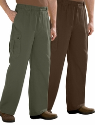 CLEARANCE! Tall Elastic Waist Espresso Brown, Stonewash Blue or Olive Green Knockarounds Cargo Plus Size Pants 8x
