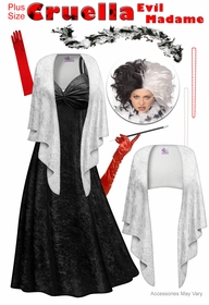 SALE! Cruella Evil Madame Plus Size Supersize Costume Lg XL 1x 2x 3x 4x 5x 6x 7x 8x