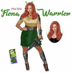 NEW! Fiona Warrior Plus Size Supersize Halloween Costume Lg XL 1x 2x 3x 4x 5x 6x 7x 8x 9x