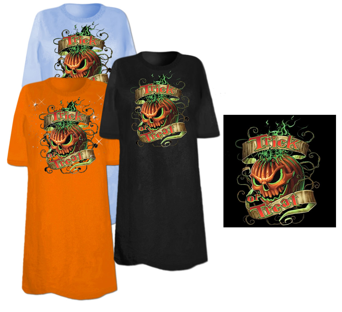 Sale Flaming Pumpkin Trick Or Treat Plus Size Supersize