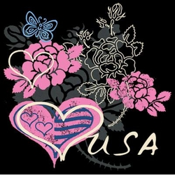 SALE! Flowers USA Plus Size & Supersize T-Shirts S M L XL 2x 3x 4x 5x 6x 7x 8x (All Colors)