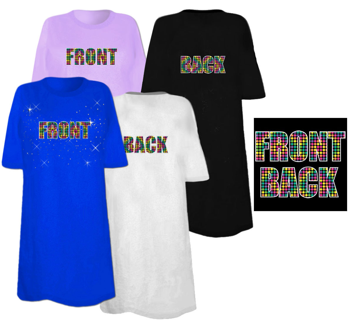 Sale front back double sided plus size supersize t for 3x shirts on sale