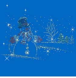 SALE! Rhinestone Snowman Rhinestone / Studs Plus Size & Supersize T-Shirts S M L XL 2x 3x 4x 5x 6x 7x 8x 9x (All Colors)