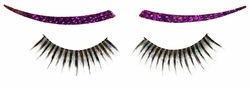 SALE! Glittery False Eye Lashes With Gemstone Liners