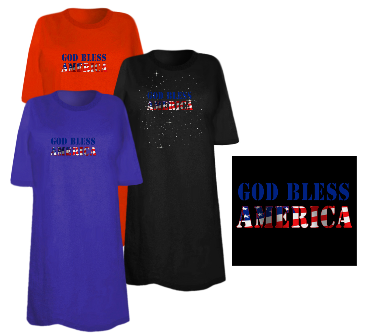 Sale god bless america plus size supersize t shirts s m for 3x shirts on sale