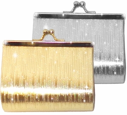 SOLD OUT! Gold or Silver Shiny Coin Purse Lipstick Case