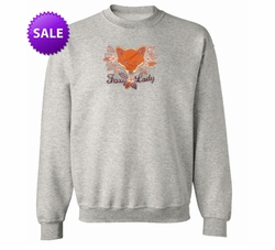 "SOLD OUT! Just Reduced! Gray ""Foxy Lady"" Plus Size Sweatshirt 4x"