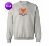 "FINAL CLEARANCE SALE! Just Reduced! Gray ""Foxy Lady"" Plus Size Sweatshirt 4x"