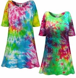 SALE! Cosmic Marble Tie Dye Plus Size Supersize X-Long T-Shirt 1x 2x 3x 4x 5x 6x 7x 8x
