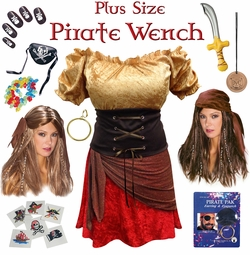 SALE! Pirate Wench Plus Size & Supersize Costumes Lg XL 1x 2x 3x 4x 5x 6x 7x 8x