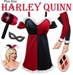 SALE! Harley Quinn Plus Size & Supersize Halloween Costume Lg XL 0x 1x 2x 3x 4x 5x 6x 7x