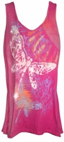 SOLD OUT! Hot Pink Giant Dragonfly Glittery Plus Size Tank Top 3x