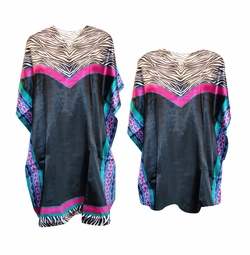 SALE! Hot Pink Zebra Print Plus Size & Supersize Caftan Mid Length Dress or Shirt 1x-6x