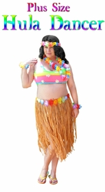 SALE! Hula Dancer Skirt Deluxe Costume Set Plus Size & Supersize Halloween Costume and Accessory Kit! Sizes Lg XL 1x 2x 3x 4x 5x 6x 7x 8x 9x