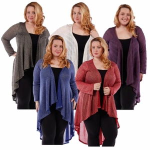 SOLD OUT! SALE! Ivory Purple or Black Red & Blue Sparkle Glimmer! Knitted Sweater Coverup Cardigan Plus Size Jackets 4x