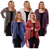 SALE! Purple Sparkle Glimmer! Knitted Sweater Coverup Cardigan Plus Size Jackets 4x 5x 6x