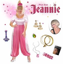 NEW! Jeannie the Genie Plus Size Supersize Halloween Costume Lg XL 1x 2x 3x 4x 5x 6x 7x 8x 9x