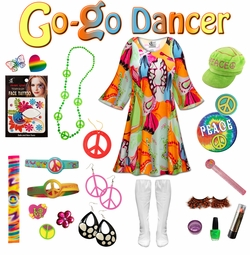 SOLD OUT! SALE! Lava Love Print Plus Size Go-go Dancer Costume Kit Lg XL 0x 1x 2x 3x 4x 5x 6x 7x 8x 9x