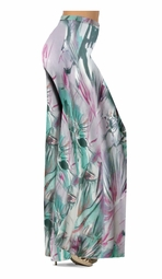 SOLD OUT! Lavender Floral Watercolor Print Slinky Special Order Customizable Plus Size & Supersize Pants, Capri's, Palazzos or Skirts! Lg to 9x