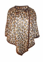 SOLD OUT! Leopard Micro Fleece Plus Size & Supersize Poncho