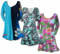 New Lightweight Plus Size & Supersize Slinky Print Tops! 0x 1x 2x 3x 4x 5x 6x 7x 8x