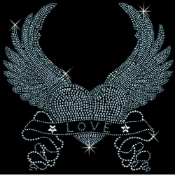 SALE! Love Heart With Wings Rhinestud Rhinestones Plus Size & Supersize T-Shirts S M L XL 2x 3x 4x 5x 6x 7x 8x 9x (All Colors)