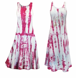 "SALE! Magenta & Light Blue Tie Dye w/ Glittery ""Love"" Rhinestuds Princess Cut Tank Plus Size & SuperSize Dress 0x 1x 2x 3x 4x 5x 6x 7x 8x"