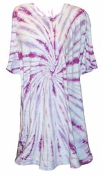 SALE! Magenta Swirl on Light Blue Tie Dye Plus Size T-Shirt XL 2x 3x 4x 5x 6x