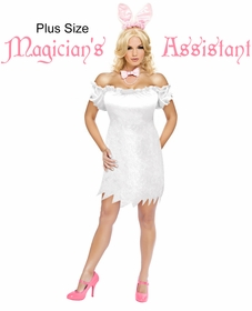 SALE! Magician's Assistant Bunny Plus Size & Supersize Halloween Costume Dress / Accessory Kit! Lg XL 0x 1x 2x 3x 4x 5x 6x 7x 8x 9x