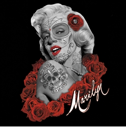 SALE! Marilyn De Los Muertos Plus Size & Supersize T-Shirts S M L XL 2x 3x 4x 5x 6x 7x 8x 9x (All Colors)