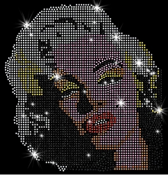 SALE! Marilyn Monroe Blonde Pop Color Portrait Sparkly Rhinestuds Plus Size & Supersize T-Shirts S M L XL 2x 3x 4x 5x 6x 7x 8x 9x (All Colors)