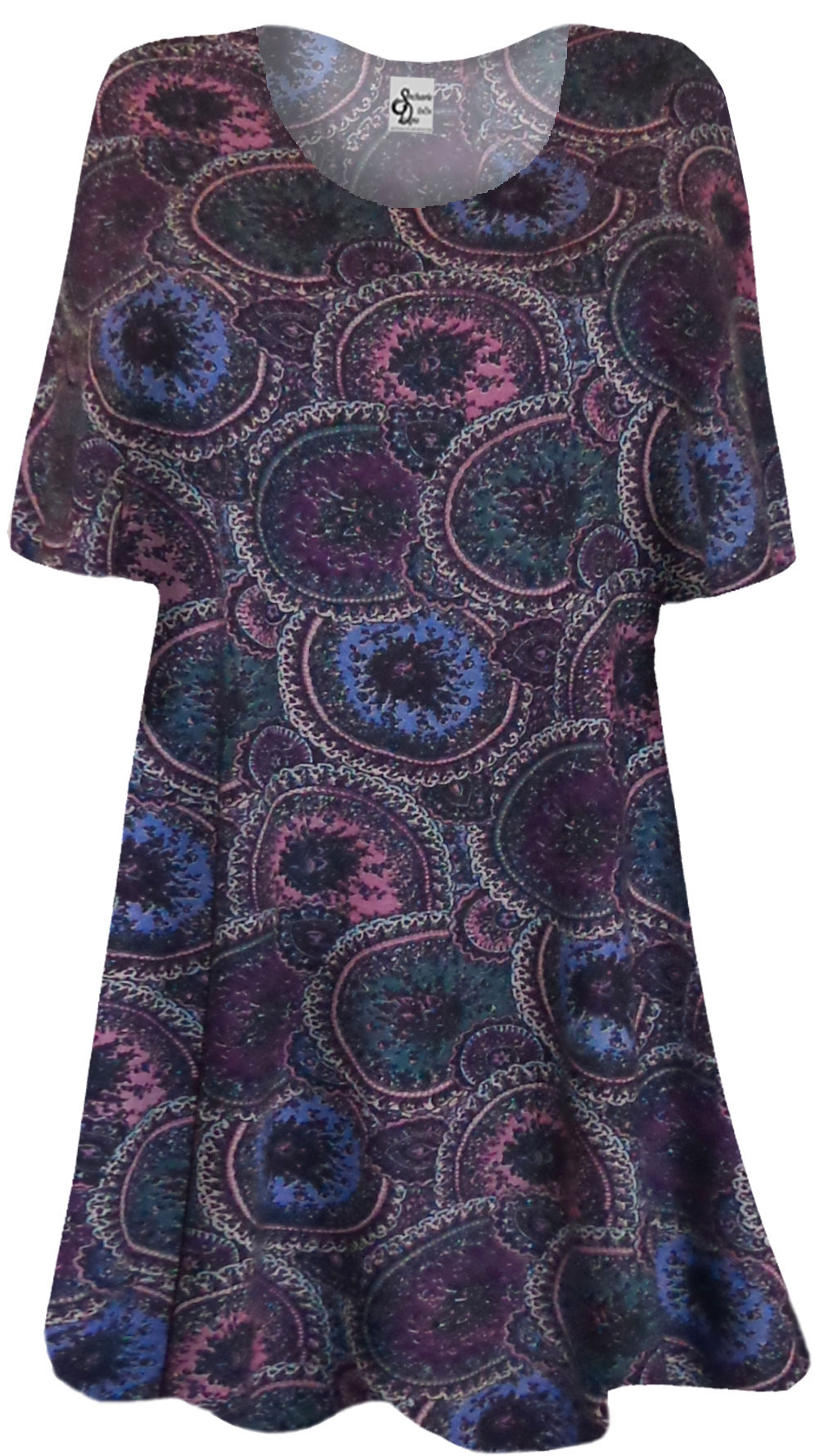 Sold Out New Maroon Blue And Purple Paisley Circles